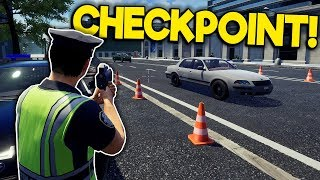 Idiots Attempt to Stop Speeders at a Police Checkpoint! - Police Simulator: Patrol Duty Multiplayer