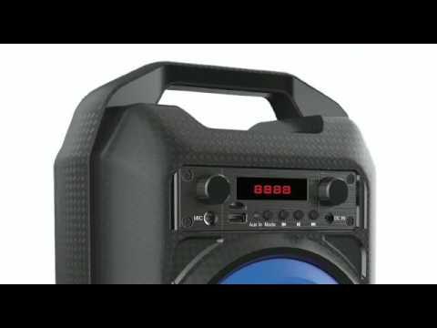 Caixa de Som portátil Com Bluetooth USB MP3 FM Bateria Interna
