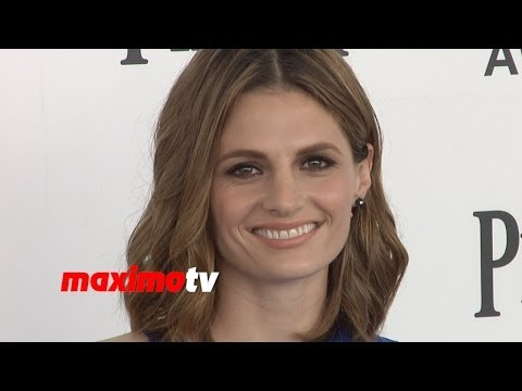 Stana Katic Sexy In Blue 2014 Film Independent Spirit Awards - Castle Star Beauty