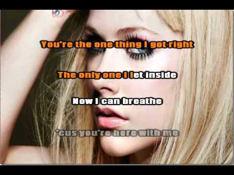 Avril Lavigne - I Will Be Karaoke   Instrumental video