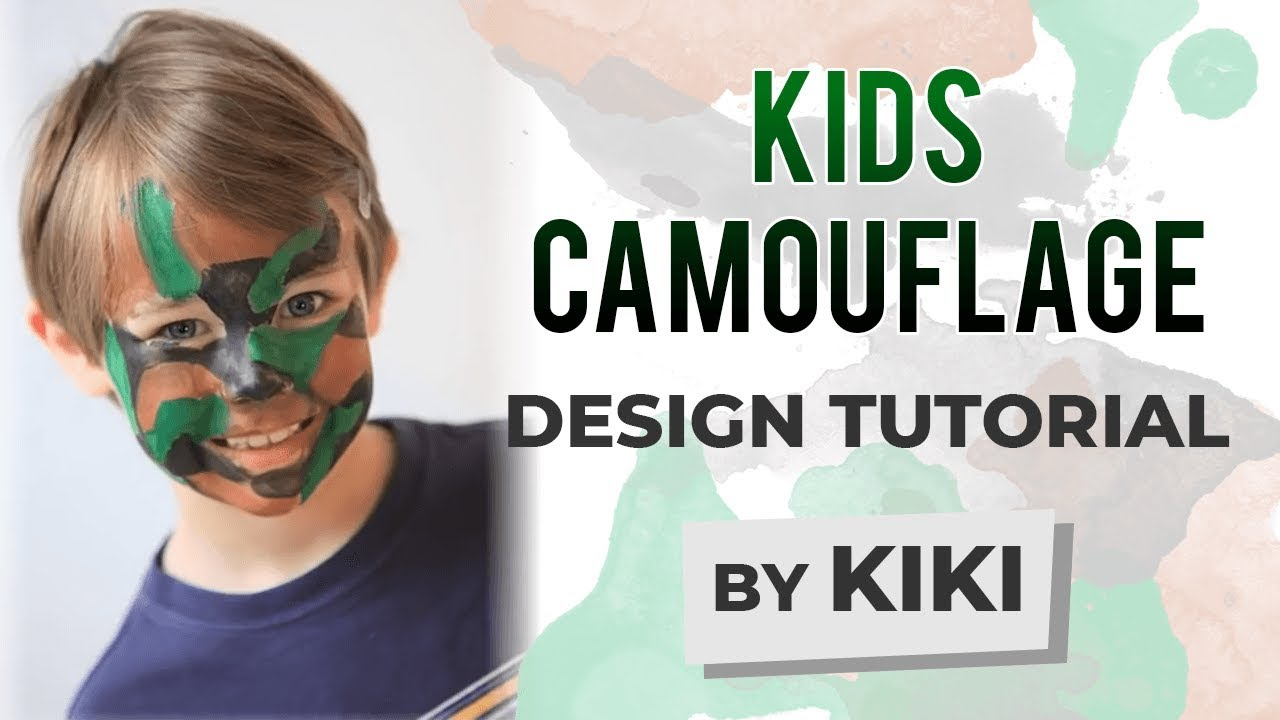Kids Camouflage Face Painting