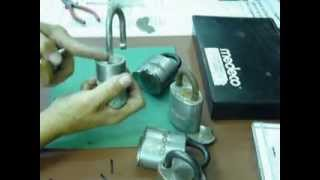 Medeco Padlock (disassembly and reassembly-( repinning)