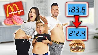 WHO CAN GAIN THE MOST WEIGHT IN 24 HOURS!?? *CHALLENGE* | The Royalty Family