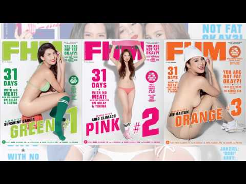 Banana Nite Girls Cover FHM Magazine January 2014 Issue