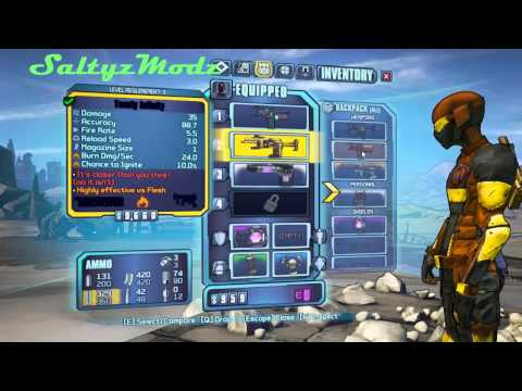 Borderlands 2 BLACK RARE Modded Weapons!(PC/XBOX360)
