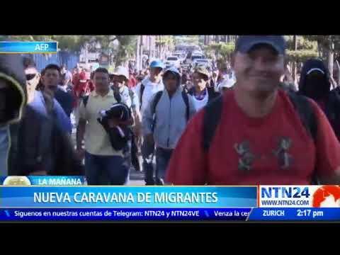 Nueva caravana de migrantes parte de El Salvador con rumbo a Estados Unidos