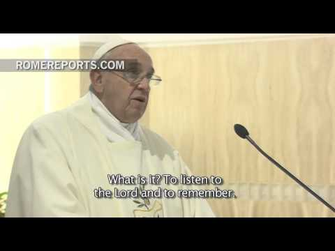 Pope Francis in Santa Marta: We can't pray as if we don't have a history with God