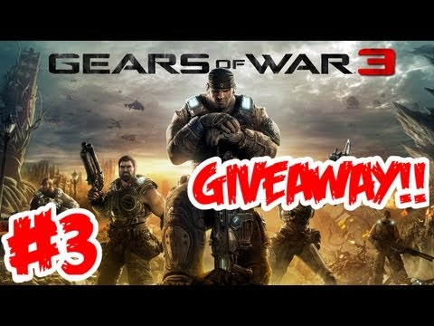 Gears of War 3 Walkthrough Part 3 [ Act 1 - Chapter 2 ] HD - GIVEAWAY!! - Let's Play (Gameplay)