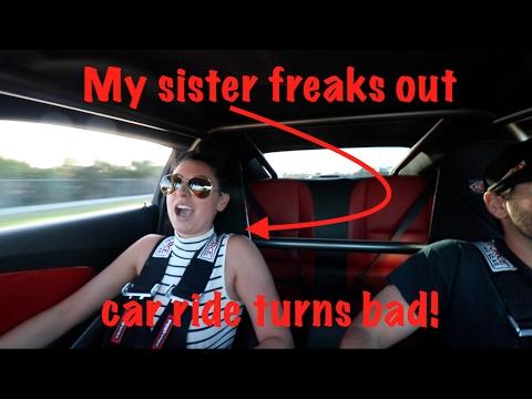 Taking my SISTER in my 1000hp CAMARO turns bad!
