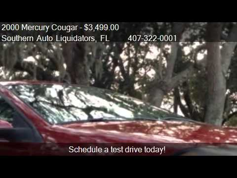 2000 Mercury Cougar V6 for sale in Longwood, FL 32750 at Sou