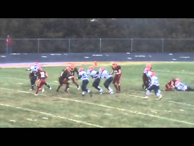 11-10-12 - Mitch Tormohlen scores on a 5 yard run (Kent Denver 14, Brush 13)