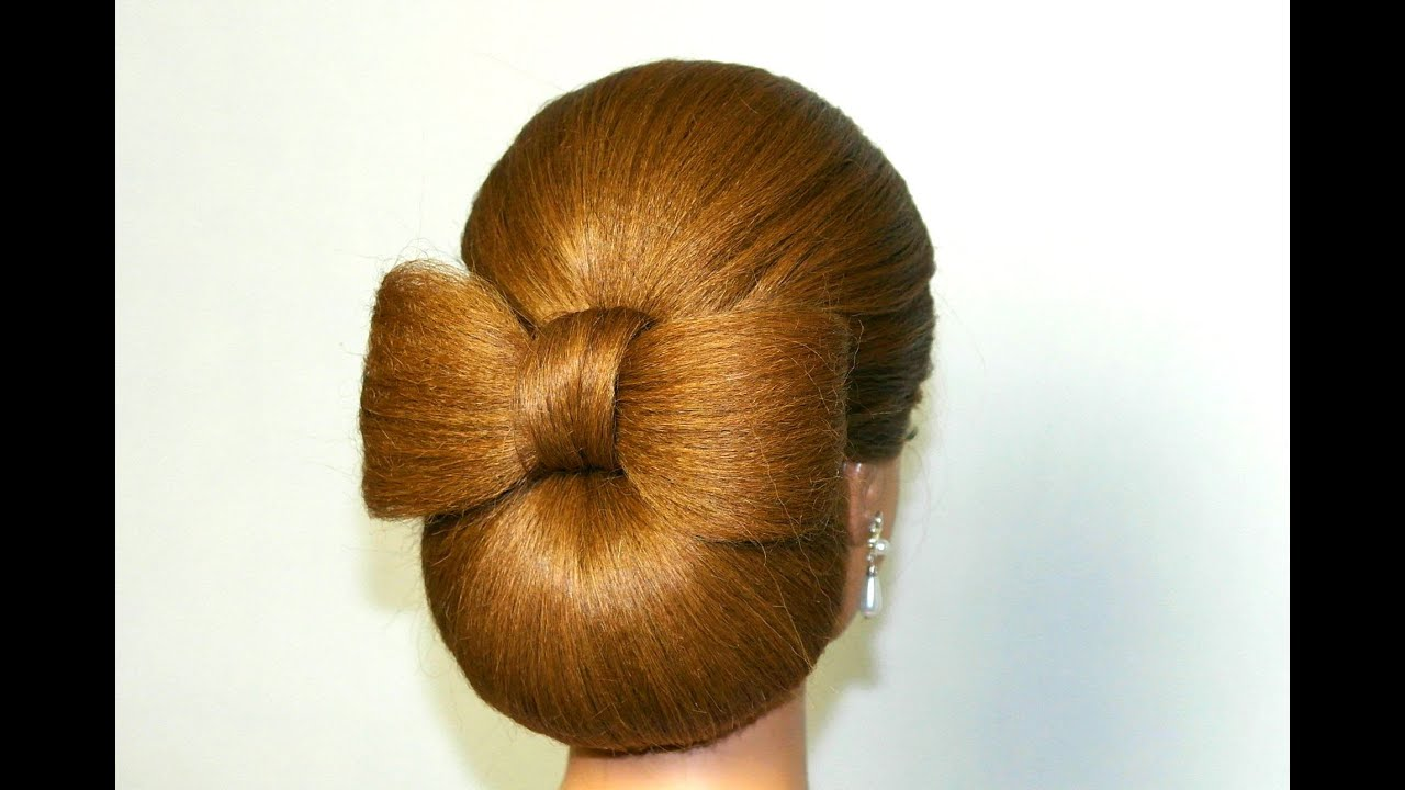 Hair bow tutorial. Hairstyles for long hair - YouTube