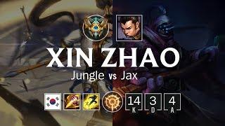 Xin Zhao Jungle vs Jax - KR Challenger Patch 8.10
