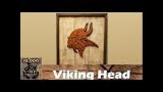 DIY : Rustic Viking Head Wall Decor / Reclaimed wood wall art / Wall Accent /cabin decor