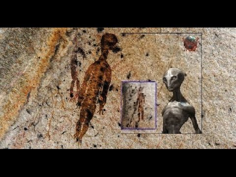 10,000-year-old rock paintings depicting aliens and UFOs found in Chhattisgarh India