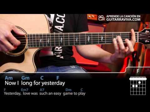 Yesterday guitar chords easy tutorial