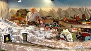 Large Private Model Railroad RR Lionel O Scale Gauge Train Layout of Ron Stevenson's awesome trains
