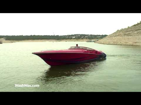 38 ft Fountain Lightning Power Boat Speed Boat Race Boat Video