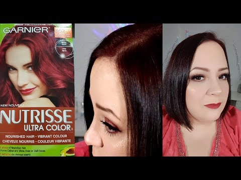 Garnier Nutrisse Hair Color Review Amp Tutorial How To