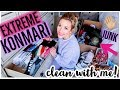 CLEAN WITH ME 2019   ULTIMATE KONMARI DECLUTTER + EXTREME CLEANING MOTIVATION