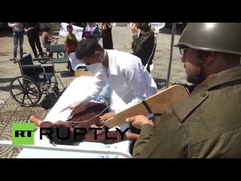 State of Palestine: Mock Israeli force-feeding held in solidarity with Mohammed Allan
