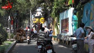 Pasteur - con đường bị lấn chiếm lòng lề đường vô tư ở tp Hồ Chí Minh.