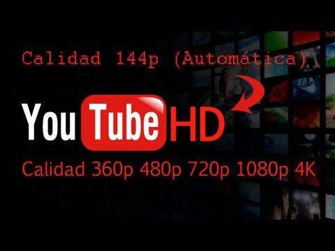 Quitar opción calidad AUTOMATICA en Youtube