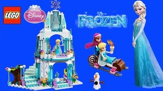 Diseny Frozen Elsa's Sparkling Ice Castle with Princess Anna and Snowman Olaf | TheChildhoodLife