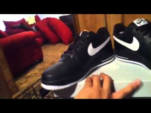 Unboxing Nike Air Force 1 Black and White