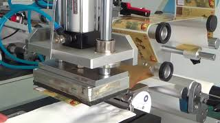 Inpakt_ vacuum semi auto pouch labeller