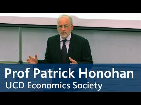 Patrick Honohan, Governor of the Central Bank of Ireland speaks to UCD Economics Society