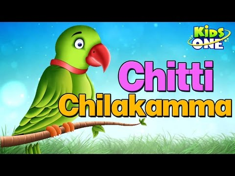 Chitti Chilakamma - Parrots - Telugu Animated Rhymes video