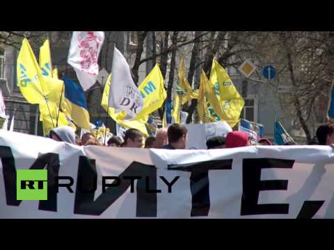 Ukraine: Anti-govt protesters rally for