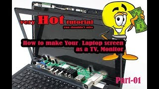 How to make TV from an old laptop part-01