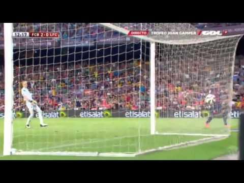 Barcelona Vs Club Leon 6-0 TODOS LOS GOLES Trofeo Joan Gamper (Luis Suarez Debut)