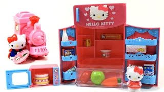 Hello Kitty Fridge Kitchen Toy for Girls - Pretend Play Toys Refrigerator Playset - Unbox Me