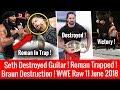 Roman Wins & Khallas ! Rollins Destroyed ! Braun Wins ! WWE Monday Nigh Raw 6/11/2018 Highlights 11