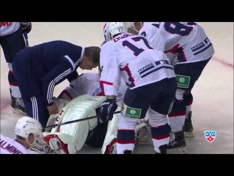 Травма Гелашвили на предыгровой разминке / Gela'd been injured at warm-up before Atlant game