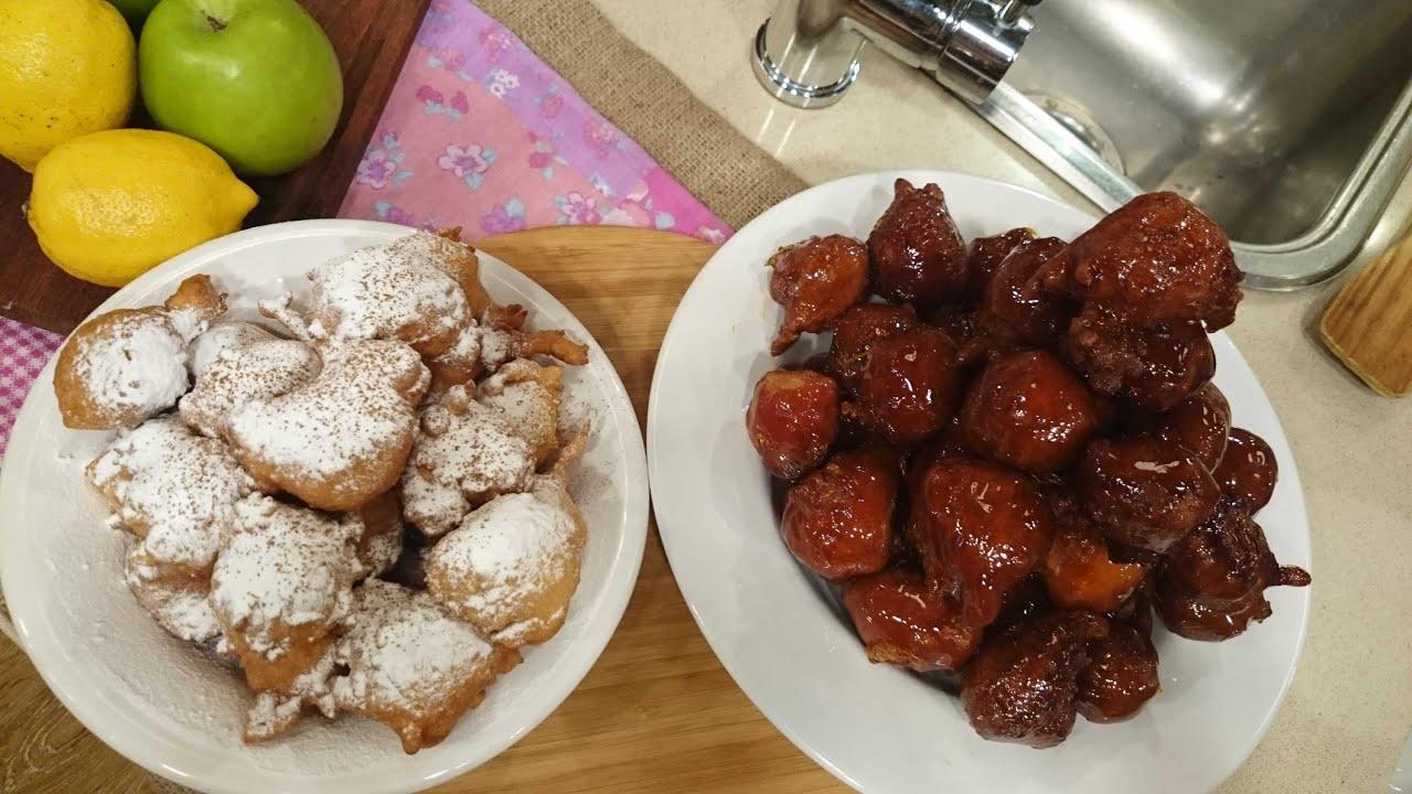 Buñuelos de manzana con caramelo