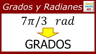 Conversin de radianes a grados-Converting radians to degrees