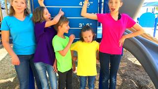 Learn English Words! Playground Opposites! High Low with Sign Post Kids!