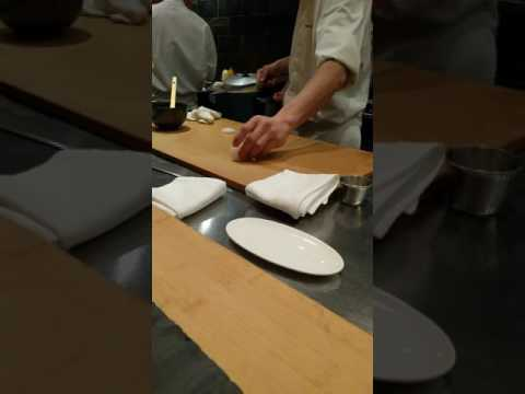 Live Octopus sashimi at Jewel Bako, NYC