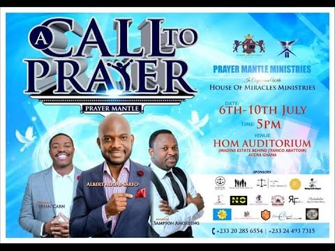 Prophet Brian Carn Live in Accra Ghana. A Call To Prayer With Prophet Sampson Amoateng