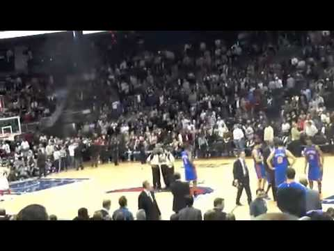 Atlanta Hawks and New York Knicks fight (original video) 01.28.11