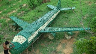 Unbelievable! Build the Most Beautiful Airplane House Using Bamboo