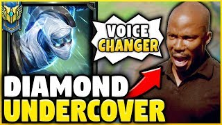 TROLLING A TOXIC COACH *VOICE CHANGER* DISGUISED AS A BRONZE PLAYER! (HE QUITS!) - League of Legends