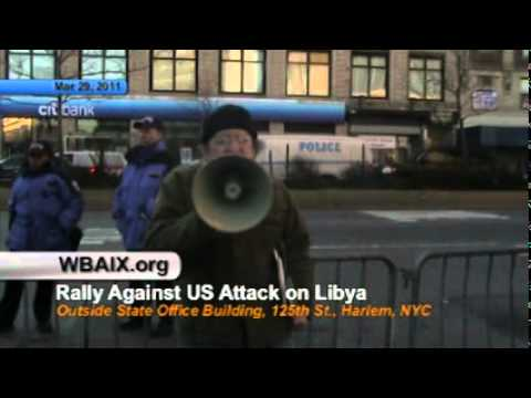 Harlem Protest Against Obama's Invasion of Africa