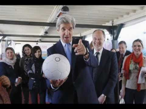JOHN KERRY HEADS A SOCCER BALL IN AFGHANISTAN..... WTF