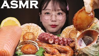ASMR 해물찜과 연어회 먹방 BRAISED SPICY SEAFOOD EATING SOUNDS MUKBANG | Ae Jeong ASMR