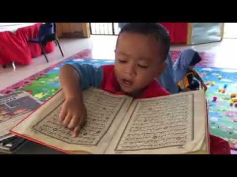 Subahanallah anak usia 2 tahun udah lancar baca Al-Quran